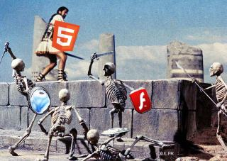JSON and HTML 5 against Silverlight and Flash