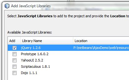 Ajax Programming with NetBeans